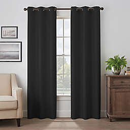 Eclipse Martina 95-Inch Grommet Blackout Window Curtain Panel in Black