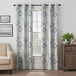 Eclipse Martina Medallion Grommet 100% Blackout Window Curtain Panel