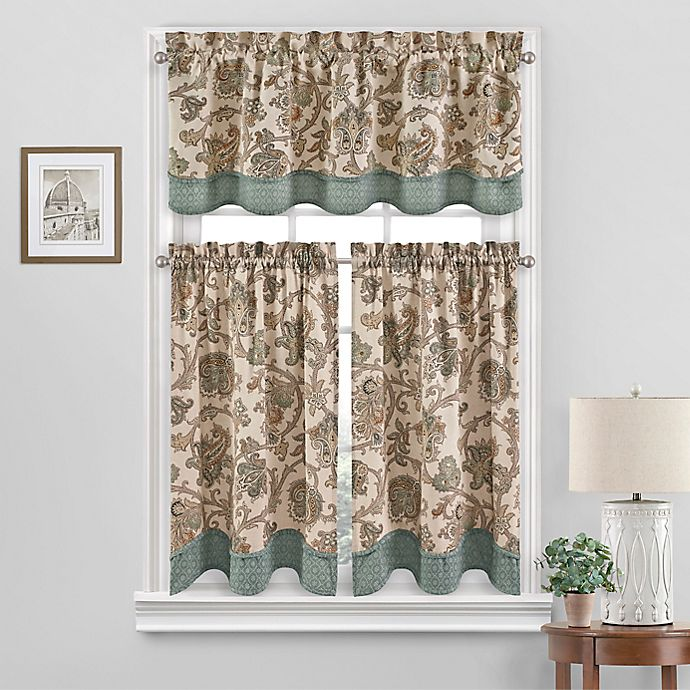 Alternate image 1 for Waverly Arezzo Room Darkening Window Curtain Tier Pair