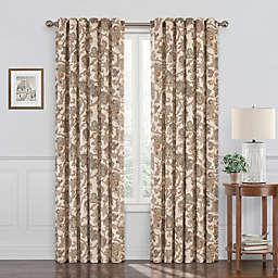 Waverly® Arezzo 84-Inch Room Darkening Window Curtain Panel in Porcini