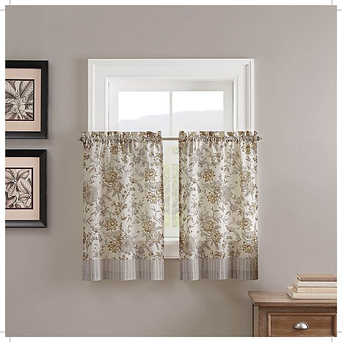 Alternate image 1 for Waverly® Lucchese 2-Pack 36-Inch Kitchen Window Curtain Tier Pair