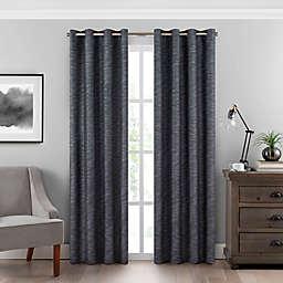 Eclipse Warren 84-Inch Grommet Room-Darkening Window Curtain Panel in Steel Blue