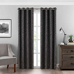 Eclipse Warren 63-Inch Grommet Room-Darkening Window Curtain Panel in Charcoal