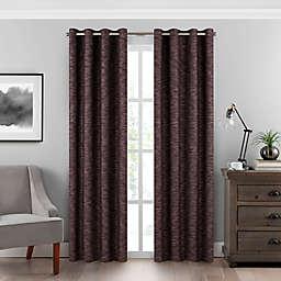 Eclipse Warren 108-Inch Grommet Room-Darkening Window Curtain Panel in Garnet (Single)