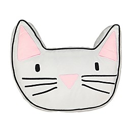 Waverly® Spree Kitty City Pillow in Grey/Pink