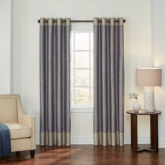 Alternate image 1 for Eclipse Monty 63-Inch Grommet Blackout Window Curtain Panel in Ivory/Charcoal