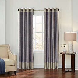 Eclipse Monty 63-Inch Grommet Blackout Window Curtain Panel in Ivory/Charcoal