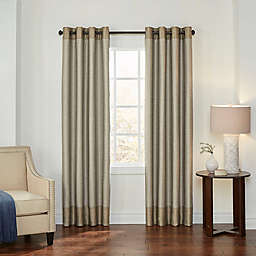 Eclipse Monty 95-Inch Grommet Blackout Window Curtain Panel in Gold/Ivory