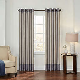 Eclipse Monty 108-Inch Grommet Blackout Window Curtain Panel in Charcoal/Cream