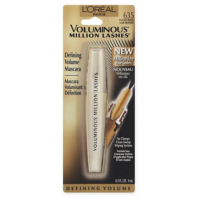 Alternate image 1 for L'Oreal® Voluminous Million Lash Mascara Blackest Black
