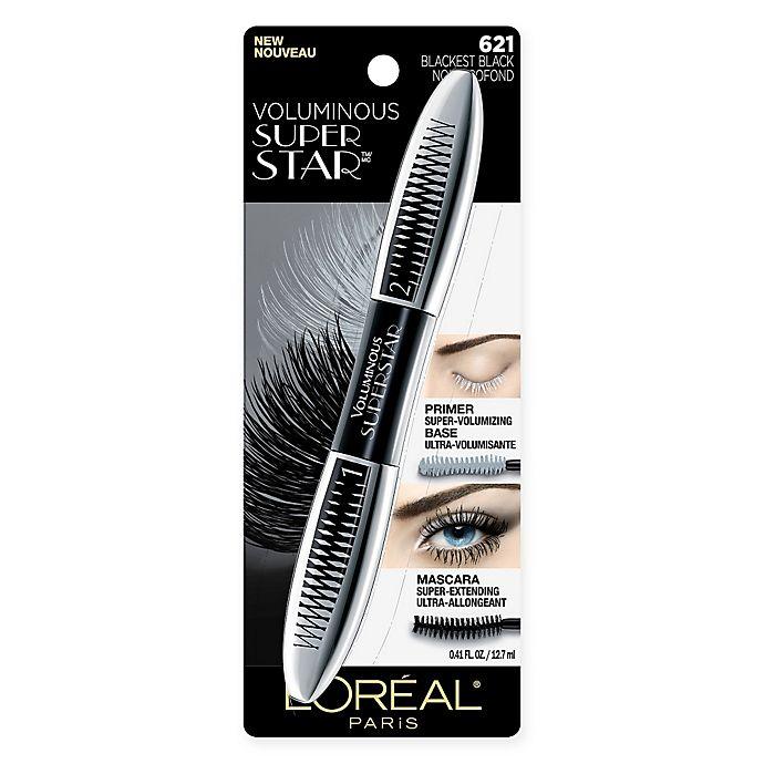 Alternate image 1 for L'Oreal® Paris Voluminous® Superstar Mascara in Blackest Black