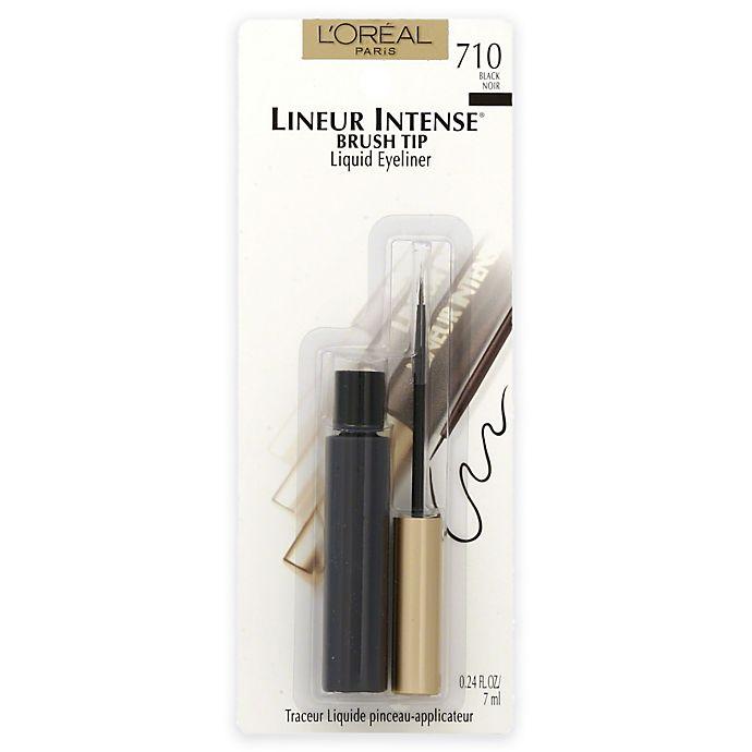Alternate image 1 for L'Oréal® Paris .24 oz. Lineur Intense Brush Tip Liquid Eyeliner in Black