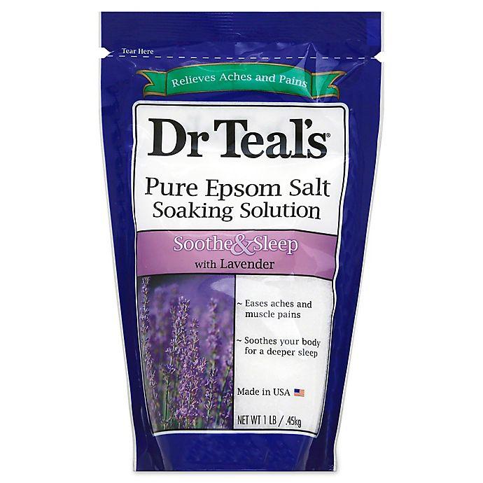 Alternate image 1 for Dr. Teal's 16 oz. Lavender Epsom Salt Soaking Solution