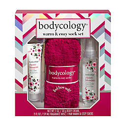 Bodycology® Cherry Blossom 3-Piece Warm & Cozy Sock Set