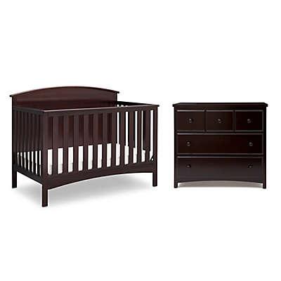 Delta Children Layla Nursery Furniture Collection in Dark Chocolate