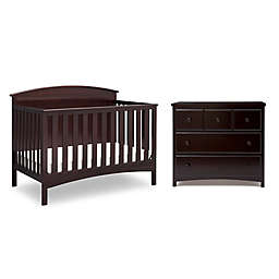 Delta Children Layla Nursery Furniture Collection in Dark Chocolate