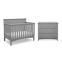Delta Children Fancy Nursery Furniture Collection in Grey