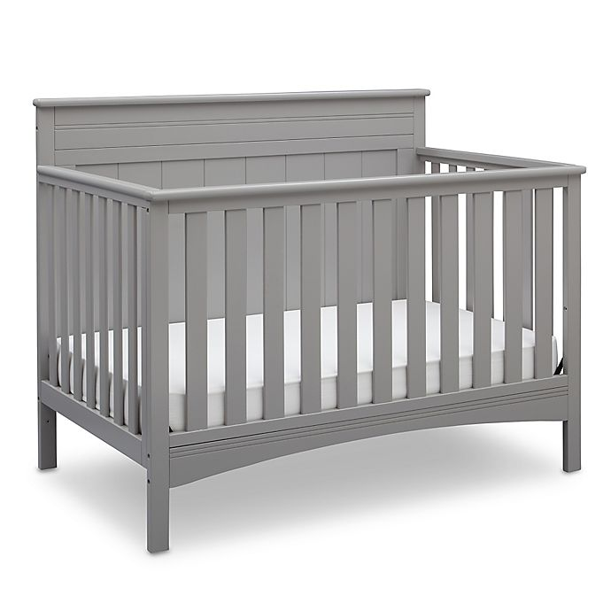 Alternate image 1 for Delta Children Fancy 4-in-1 Convertible Crib in Grey