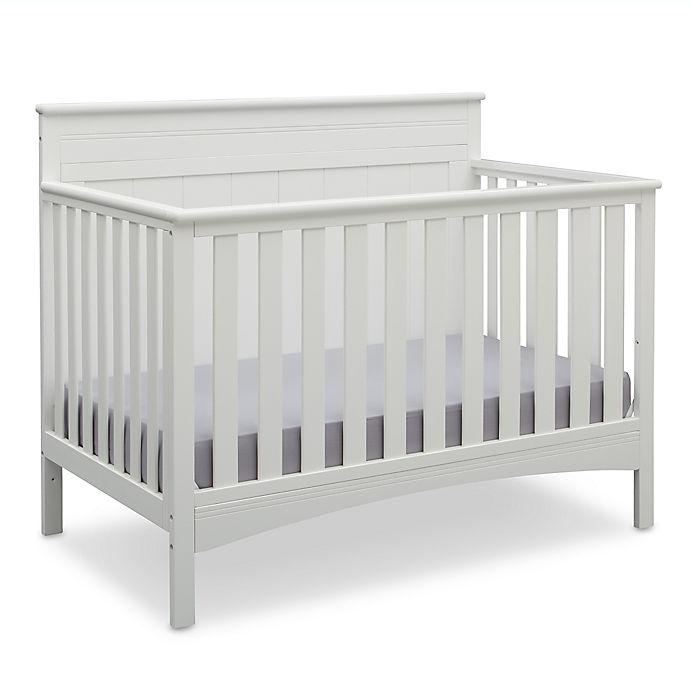 Delta Children Fancy 4-in-1 Convertible Crib In Bianca