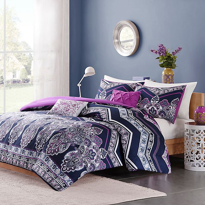 Alternate image 1 for Intelligent Design Adley Comforter Set in Purple