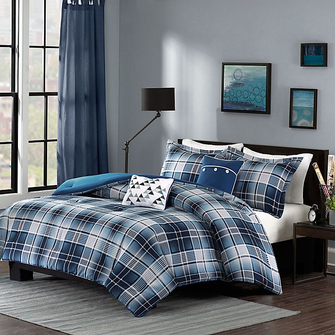 Alternate image 1 for Intelligent Design Camilo Twin/Twin XL Comforter Set in Blue