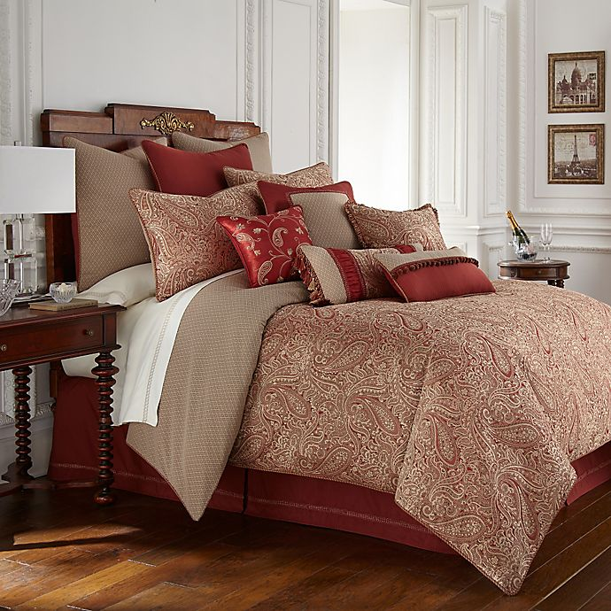 Alternate image 1 for Waterford® Linens Cavanaugh Reversible Comforter Set