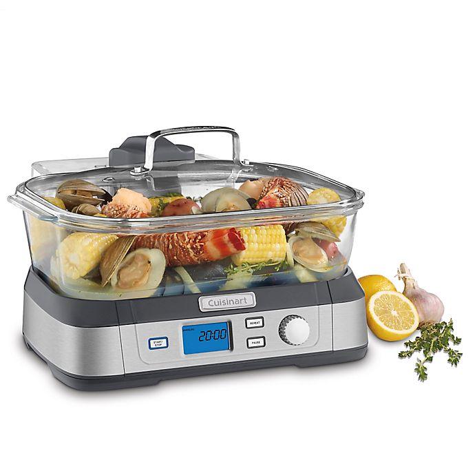 Alternate image 1 for Cuisinart® Cookfresh Digital Glass Steamer in Stainless Steel