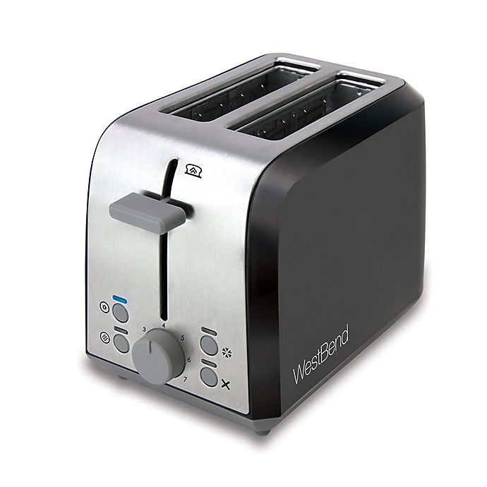Alternate image 1 for WestBend Two Slice Toaster in Black/Silver
