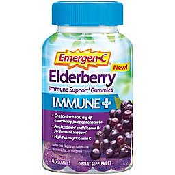 Emergen-C® 45-Count 750 mg Elderberry Vitamin C Immune Plus Support Gummies