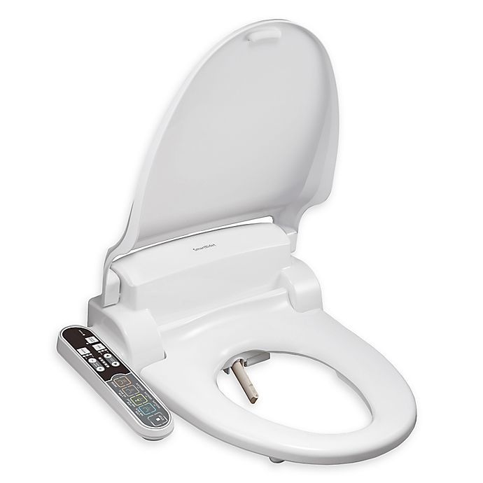 Alternate image 1 for SmartBidet Round Electric Bidet Seat with Control Panel in White