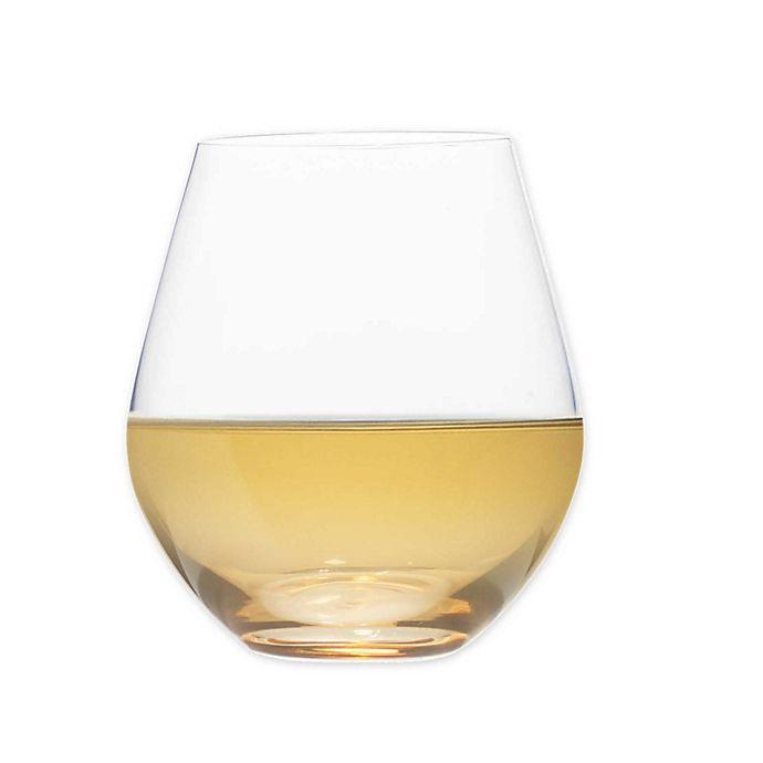 Alternate image 1 for Mikasa® Gianna Ombre Amber Stemless Wine Glasses (Set of 4)