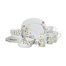 Mikasa® Wildflower Garden 16-Piece Square Dinnerware Set