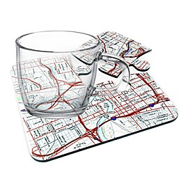 Map Marketing Personalized 4-Piece USGS Coaster Set