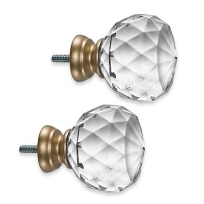 Cambria 174 Premier Complete Faceted Ball Finials In Warm