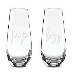 """kate spade new york Two of a Kind™ """"Pop"""" and """"Fizz"""" Stemless Champagne Glasses (Set of 2)"""