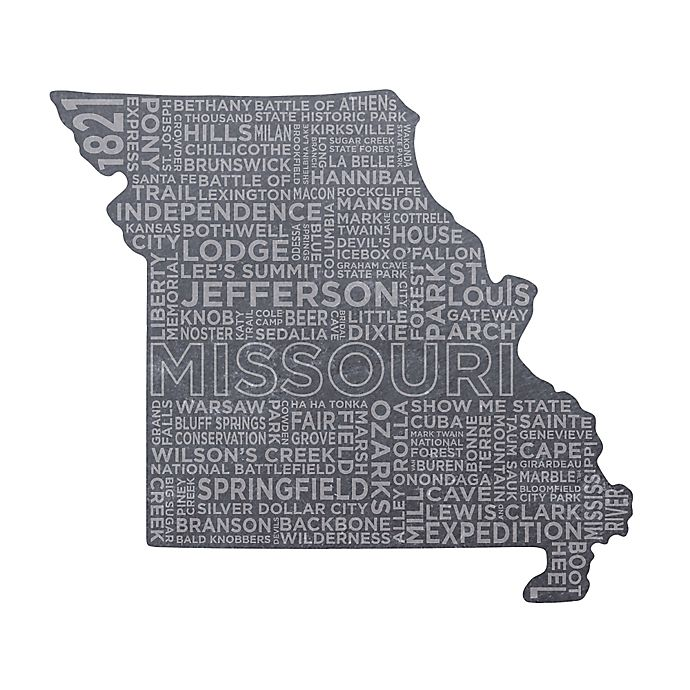 Top Shelf Living Missouri Etched Slate Cheese Board Bed