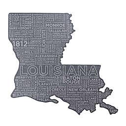 Top Shelf Living Louisiana Etched Slate Cheese Board