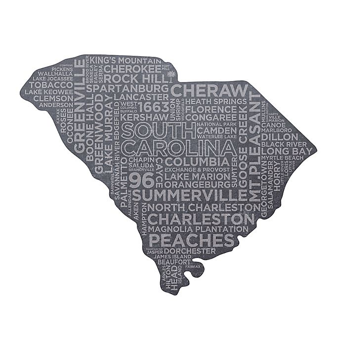 Top Shelf Living South Carolina Etched Slate Cheese Board