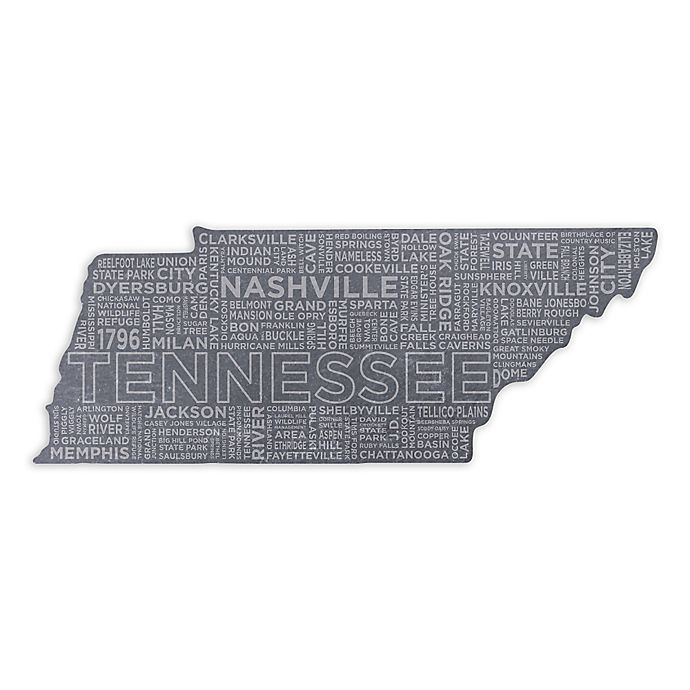 Top Shelf Living Tennessee Etched Slate Cheese Board Bed