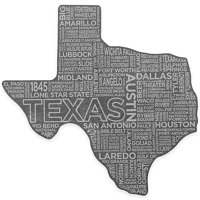 Alternate image 1 for Top Shelf Living Texas Etched Slate Cheese Board
