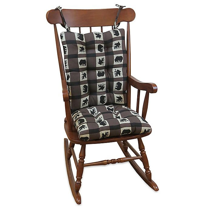 Astonishing Klear Vu Gripper Rocking Chair Pad In Animal Plaid Uwap Interior Chair Design Uwaporg