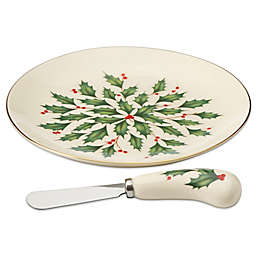 Lenox® Holiday™ Cheese Plate with Knife