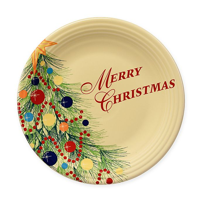 "Fiesta® Christmas Tree ""Merry Christmas"" Dinner Plate ..."