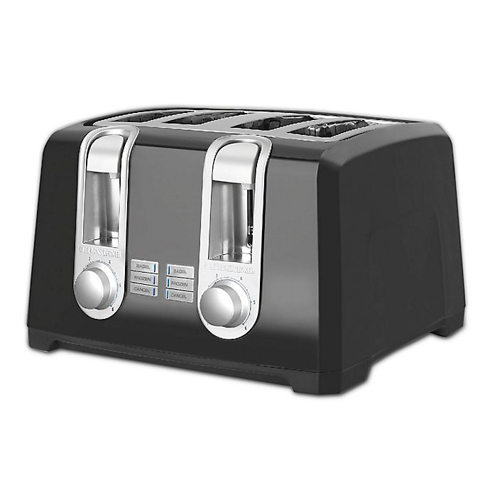 Alternate image 1 for Black & Decker™ 4-Slice Toaster in Black