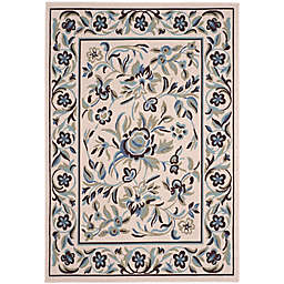 Safavieh Garden Blue Indoor/Outdoor Rug in Cream/Blue/Green
