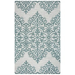 Rizzy Home Lunnica Medallion Rug in Green/Grey