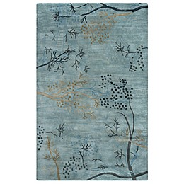 Rizzy Home Craft Branches Rug in Blue