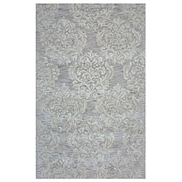 Rizzy Home Marianna Damask Area Rug in Beige