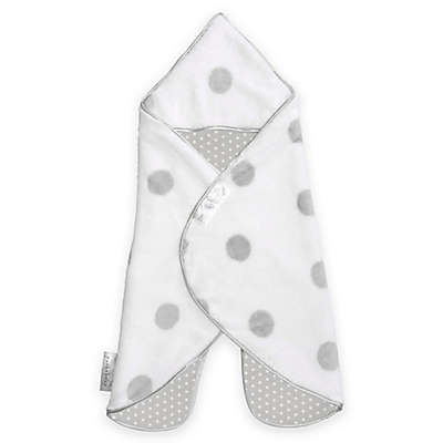 Puckababy® The Gogo Newborn® Size 0-7M Wearable Blanket in White/Grey Dot