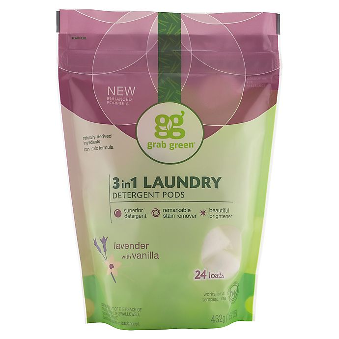 Alternate image 1 for Grab Green 3-in-1 Lavender Laundry Detergent